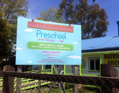 letrero-Preschool